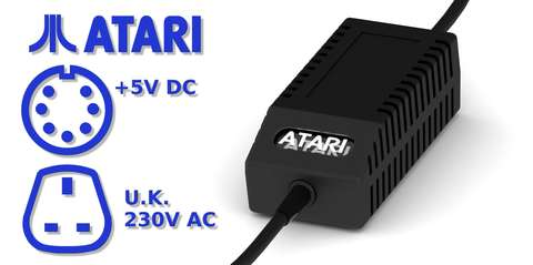 Atari XL/XE PSU Modern Black UK