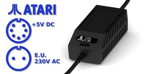 Atari XL/XE PSU OLED Digital Black EU