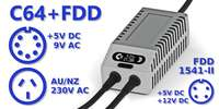 C64 FDD Dual PSU OLED Digital Gray AU