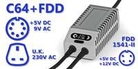 C64 FDD Dual PSU OLED Digital Gray UK