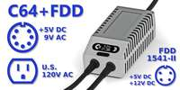 C64 FDD Dual PSU OLED Digital Gray US