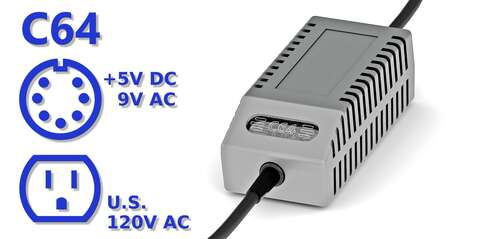 C64 PSU Modern Gray US
