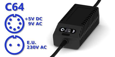 C64 PSU OLED Digital Black EU