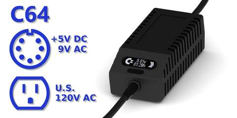 C64 PSU OLED Digital Black US