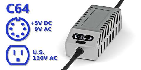 C64 PSU OLED Digital Gray US