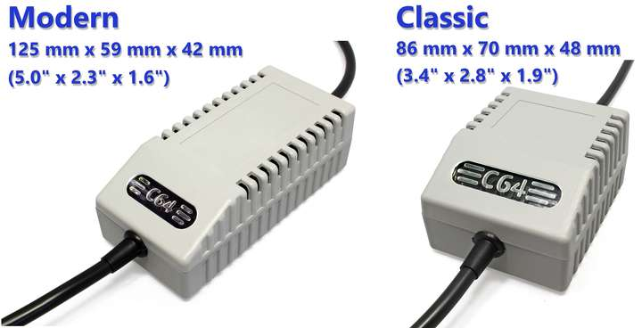 Commodore 64 Power Supply - Classic vs. Modern Chassis