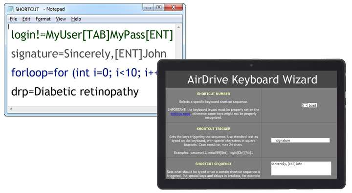 AirDrive Keyboard Wizard Wi-Fi