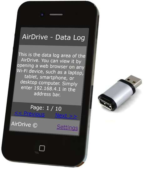 AirDrive Forensic Keylogger Mac Aluminum - Easy access