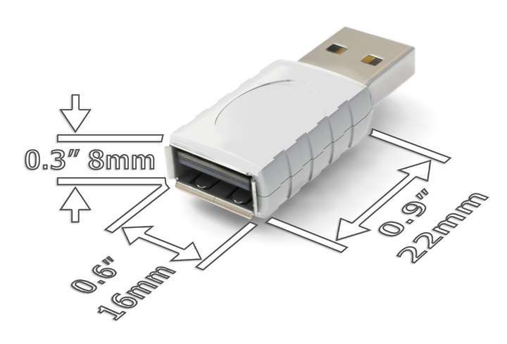 AirDrive Forensic Keylogger Mac Pro White - Stealthiness