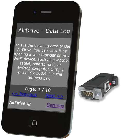 AirDrive Serial Logger Pro - Easy access